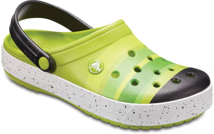 e8bb59468 Crocs Men Grass Green Black Sandals - Buy Crocs Men Grass Green Black  Sandals Online at Best Price - Shop Online for Footwears in India