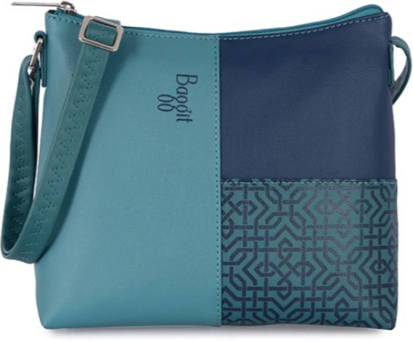 69e7350f408 Baggit Women Casual Blue PU Sling Bag Blue - Price in India   Flipkart.com