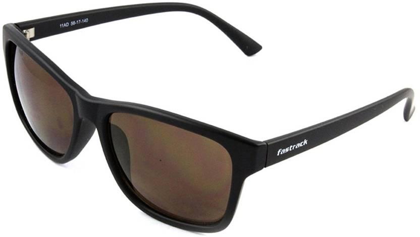 d8a7205926f Buy Fastrack Retro Square Sunglasses Black For Men   Women Online ...