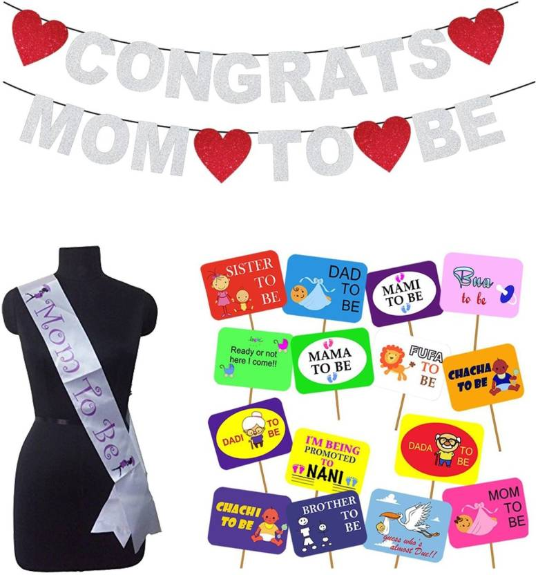 Party Propz Baby Shower Decoration Combo Allph822congrats Banner