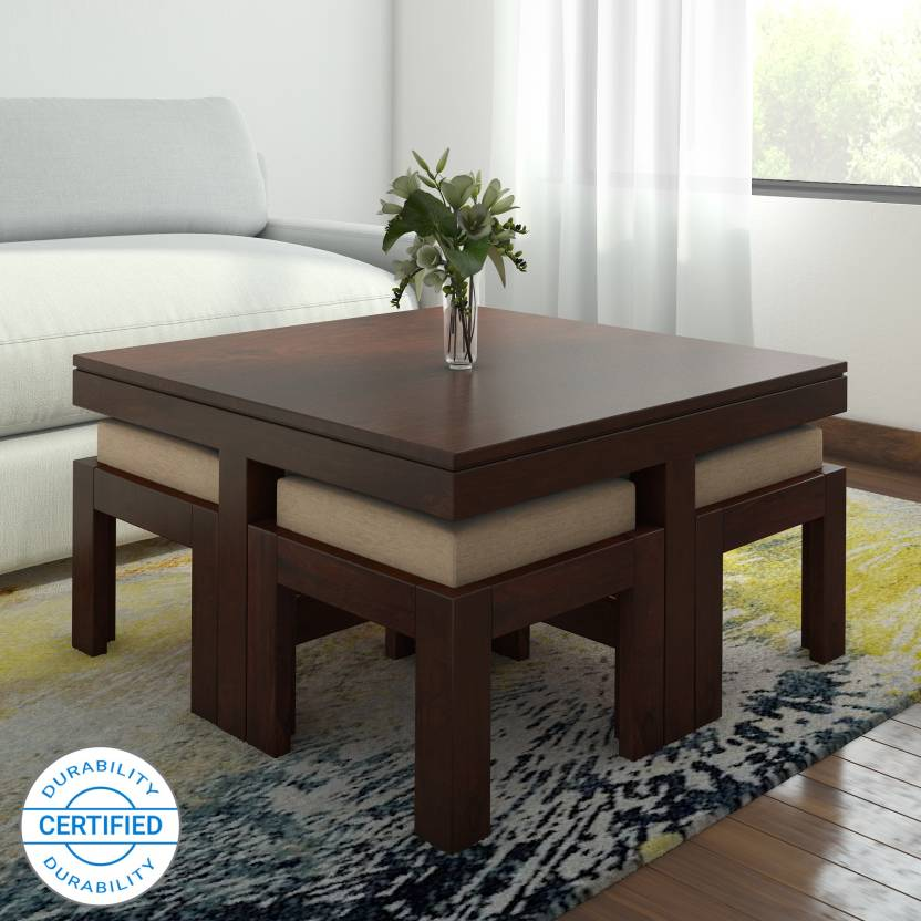 The Attic Kaliedo Sheesham Solid Wood Coffee Table (Finish Color - Espresso)