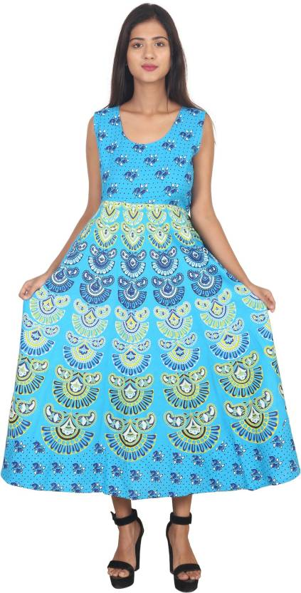 6b2d9eb81eb JAIPUR PRINTS Women s Maxi Multicolor Dress - Buy JAIPUR PRINTS Women s Maxi  Multicolor Dress Online at Best Prices in India