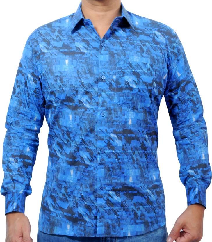 236c3c37 OSR COLLECTION Men Printed Party Blue Shirt - Buy OSR COLLECTION Men  Printed Party Blue Shirt Online at Best Prices in India | Flipkart.com