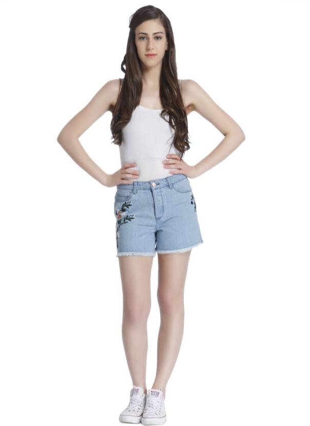 96e4e95a68f94 Only Solid Women Shorts - Buy Blue Only Solid Women Shorts Online at Best  Prices in India