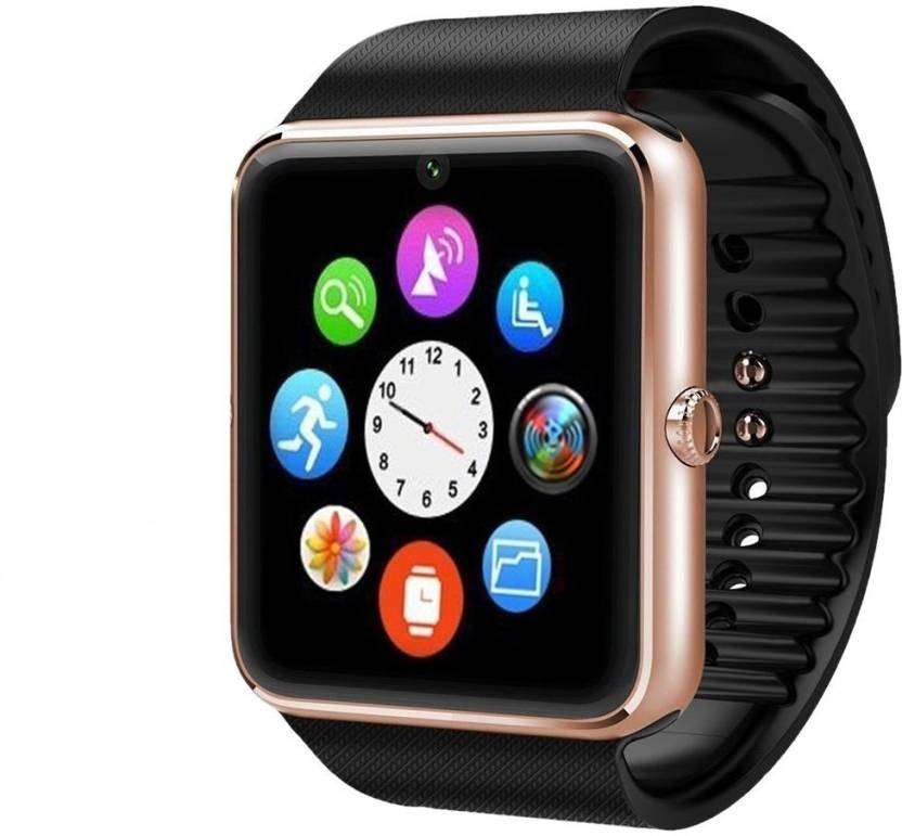 c2e941c2e3 Padraig Gt08 Bluetooth Smart Watch With Camera Sim Card Slot And Smart  Health Watch For Android Smartphones Gold Smartwatch (Black Strap Free Size)