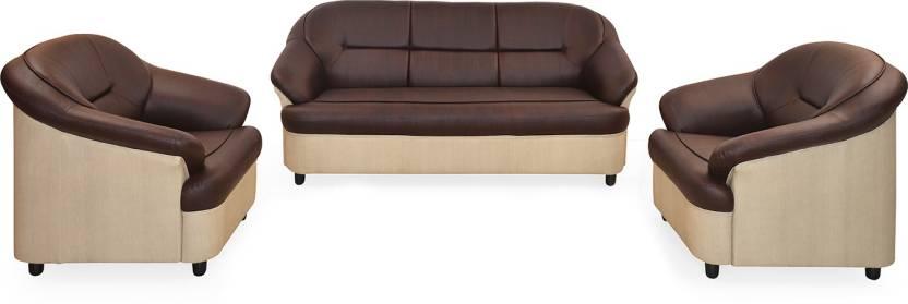 Nilkamal Knight Leatherette 3 + 1 + 1 Marron Sofa Set Price ...