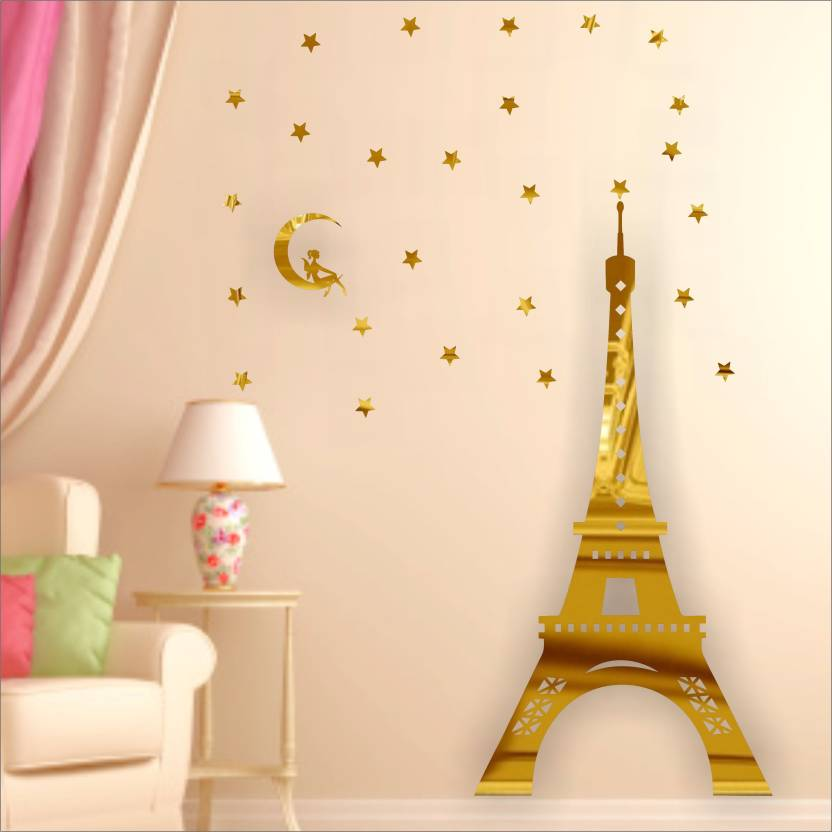 Look Decor Extra Large Look Decor Eiffel Tower Paris Golden