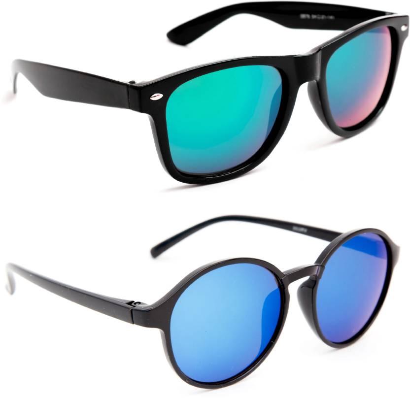 2c7de48c8 Buy TheWhoop Wayfarer, Round Sunglasses Blue For Men & Women Online ...