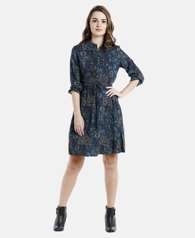 47796c9a FBB -Lee Cooper Women Layered Blue Dress - Buy FBB -Lee Cooper Women  Layered Blue Dress Online at Best Prices in India   Flipkart.com