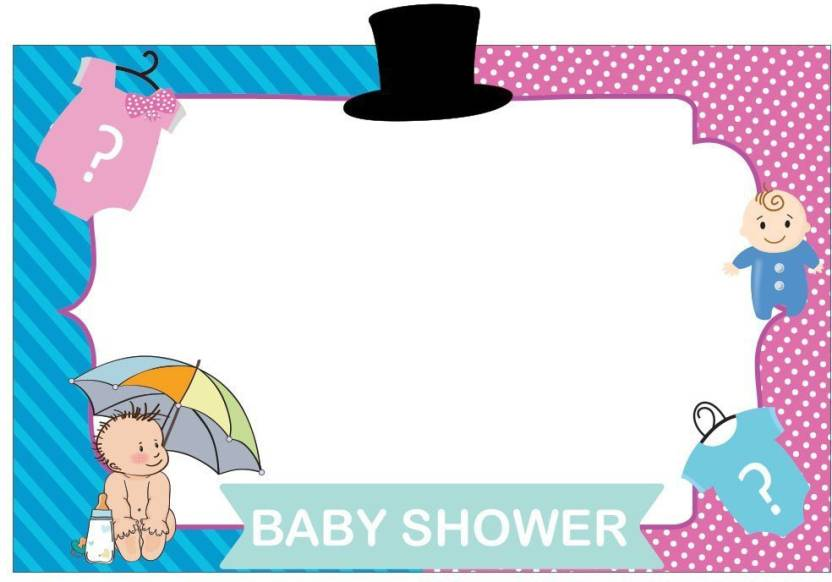 Party Propz Little Man Little Miss Photobooth Frame 2ft Baby Shower