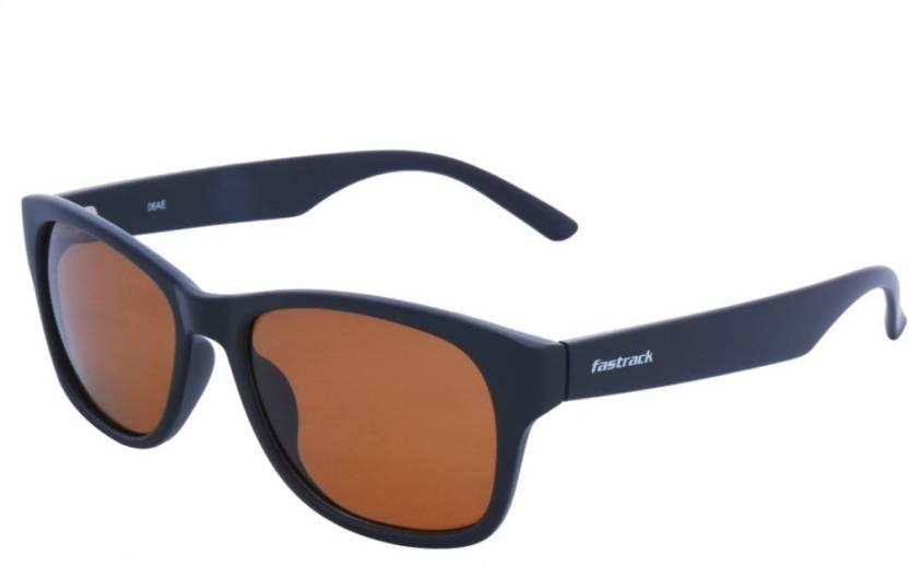 5633d06409 Buy Fastrack Retro Square Sunglasses Brown For Men   Women Online ...