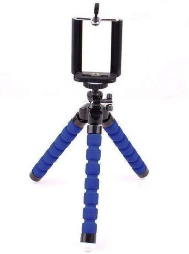 buy online 42eaa 55a30 ZEVORA Blue Mini Flexible Sponge Octopus Stand Tripod Mount ForSupport All  Kinds of Mobile Phone Models Under 5.8 inch (Well fits iPhone 6, 6 Plus 5  ...
