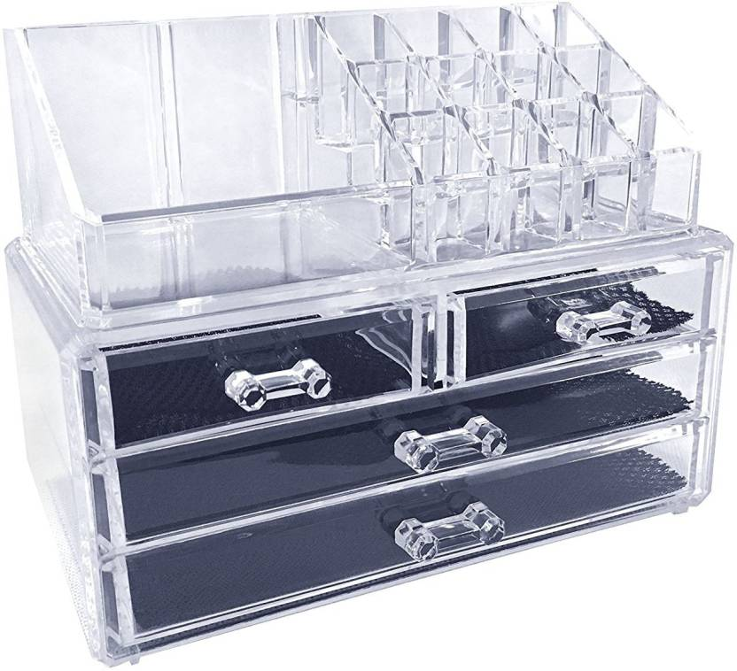 Ibs Acrylic Makeup Organizer Storage Box Case Cosmetic Jewelry 4 Drawer Container Bo Lipstick Display