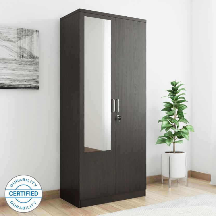 Spacewood Weave Engineered Wood 2 Door Wardrobe