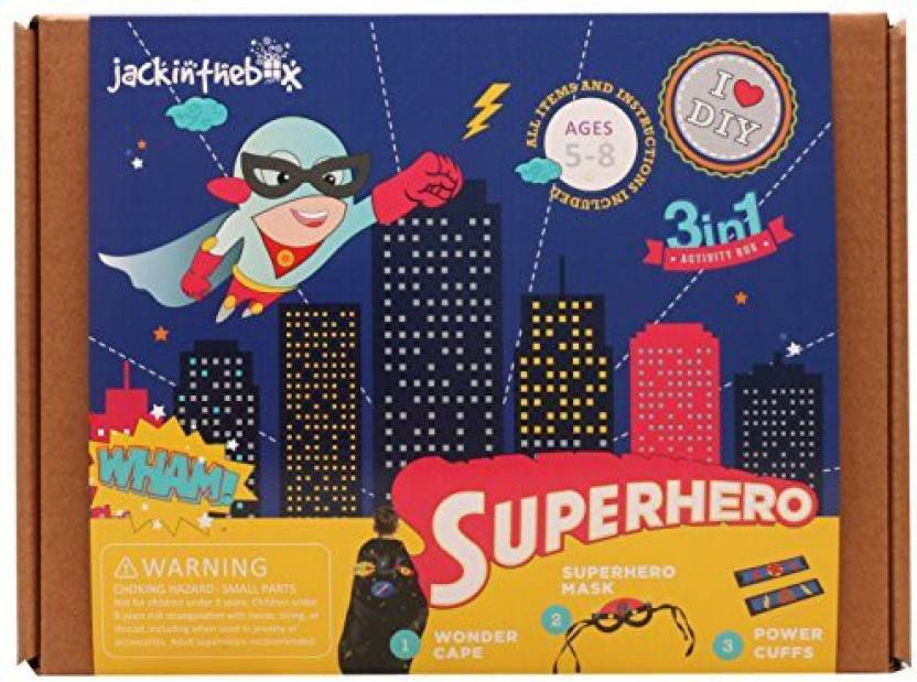 Jackinthebox Art And Craft Costume Kit For Kids Superhero 3 In 1