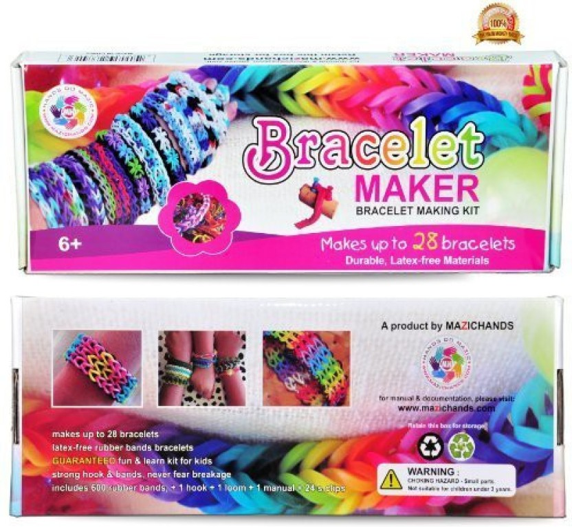 600 Mixed Loom Bands Set Creative Jewellery Making Kids Arts /& Crafts