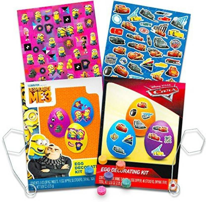 Generic Disney Cars / Minions Easter Egg Decorating Kit Set ...