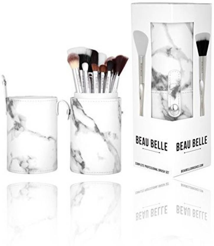 98ee74819f79 BeauBelle BEAU BELLE Marble MakeUp Brush Pot 10Piece - Price in ...