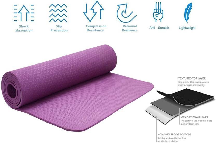 8fe9a52b2 Strauss Eco-Friendly Single Texture TPE Purple 6 mm Yoga Mat - Buy ...