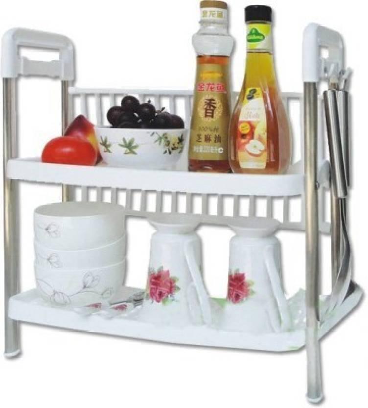 Drake Kitchen racks and shelves Kitchen Storage Two Layer ...