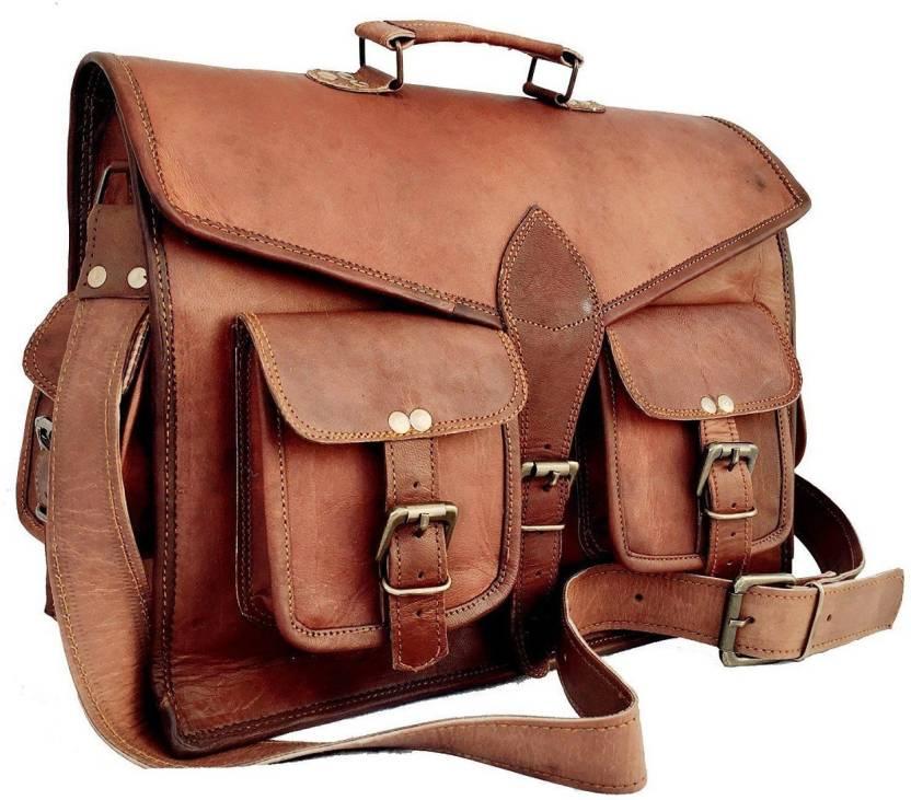 c737206a81 Anshika International 13 inch Laptop Messenger Bag brown - Price in ...