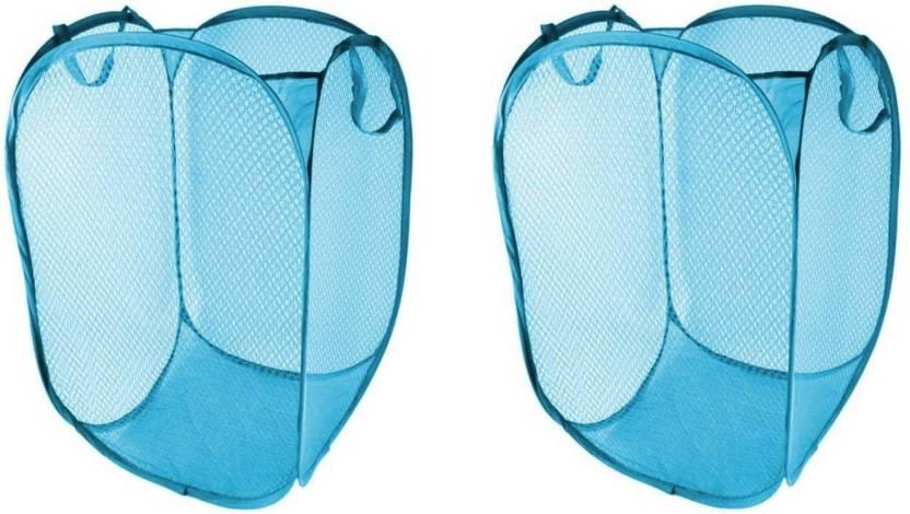 Orient Home 20 L Light Blue Laundry Bag Nylon