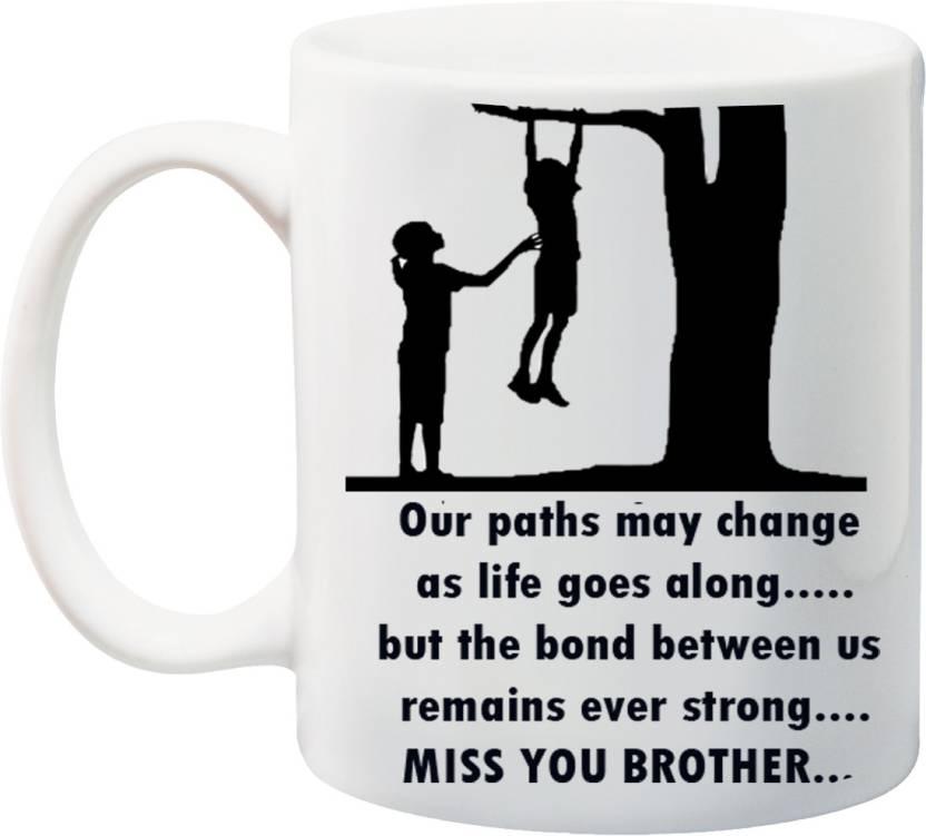 stylotrendz return gift for raksha bandhan rakhi gifts miss you brother quotes ceramic mug