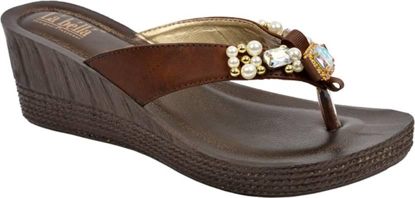7cc83488f La Bella Women Brown Wedges - Buy La Bella Women Brown Wedges Online at  Best Price - Shop Online for Footwears in India