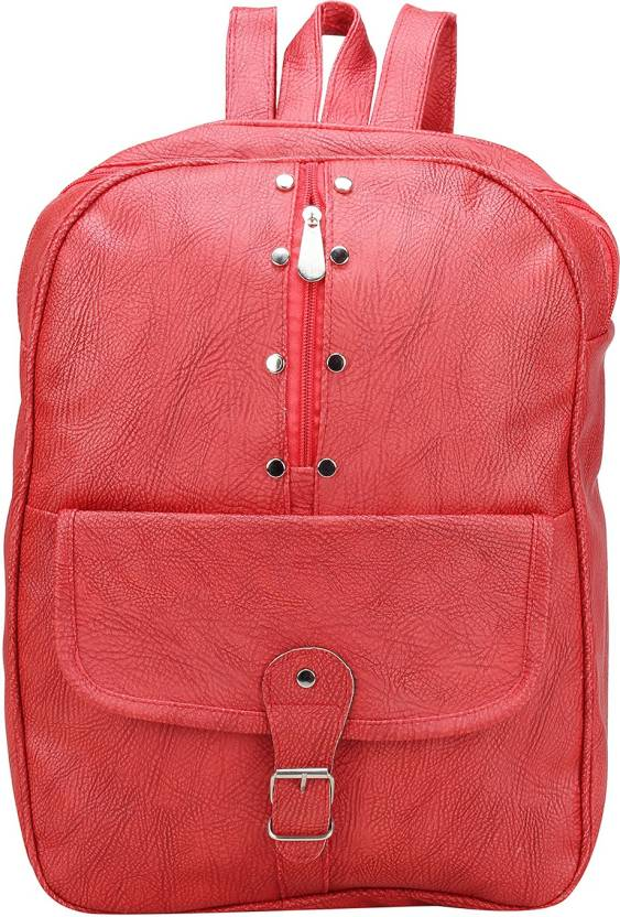 Aadhunik Libaas by Stylish Office, Tution, College   Travelling Backpacks  for Women Girls Backpack (Red, 15 inch) 0d355e40b4