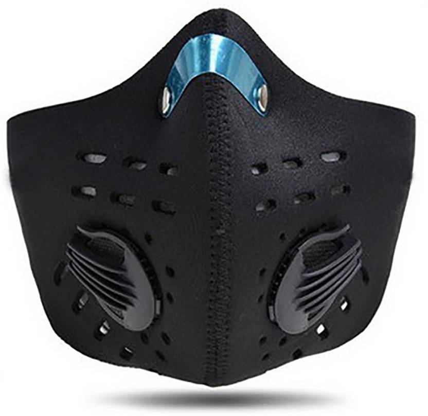 Valve Black Jonty Face Breathing Mask Pollution 5 Carbon With N95 Neoprene Pm2 Dust Anti Activated