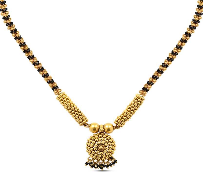 P N Gadgil Jewellers Thusi Floral 22kt Yellow Gold
