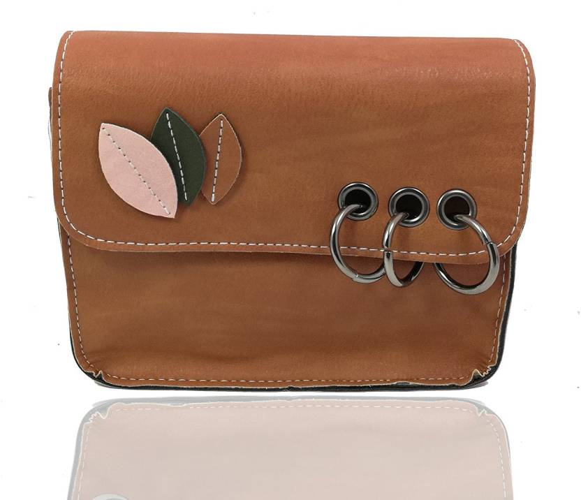 c8e826338a3 Uno Covers Girls Evening/Party, Formal, Casual Brown Rexine Sling Bag Brown  - Price in India | Flipkart.com