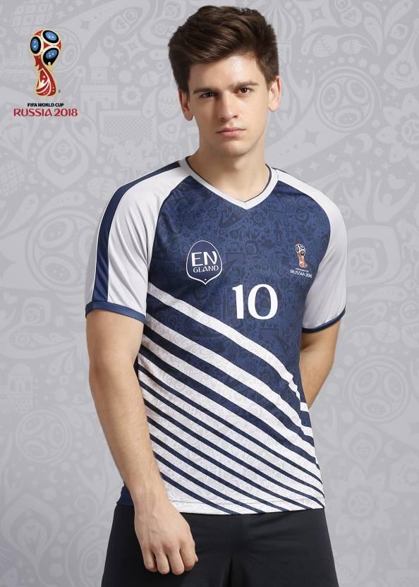 FIFA England Graphic Print Men s V-neck Blue T-Shirt - Buy Blue FIFA ... e0818a54c