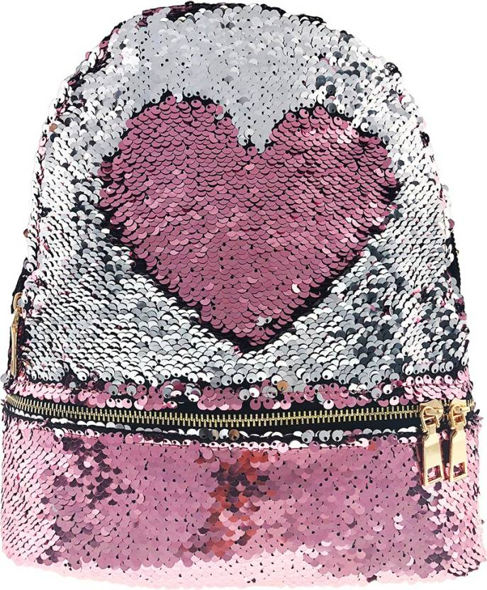 e7b92a4bbe7e8 RackJack Magic Sequins Reversible Colour Changing Pink to Silver Fashion  Back Pack Mermaid Scale Bag for Girls Women Backpack (Pink, Silver,  Multicolor, ...