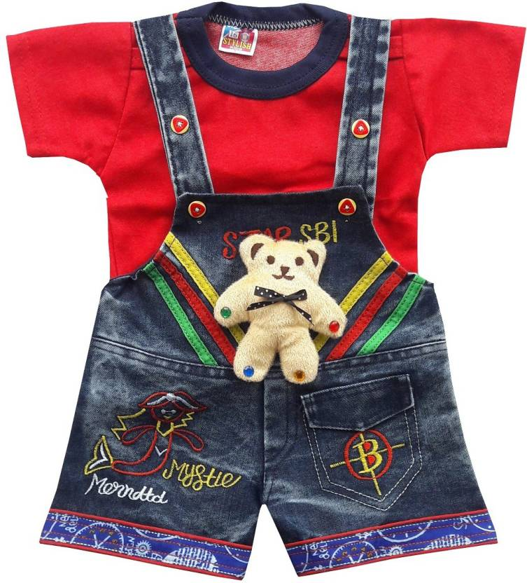 7aa346ef329a4 BabyMart Dungaree For Boy s   Girl s Party Embroidered Denim Price ...