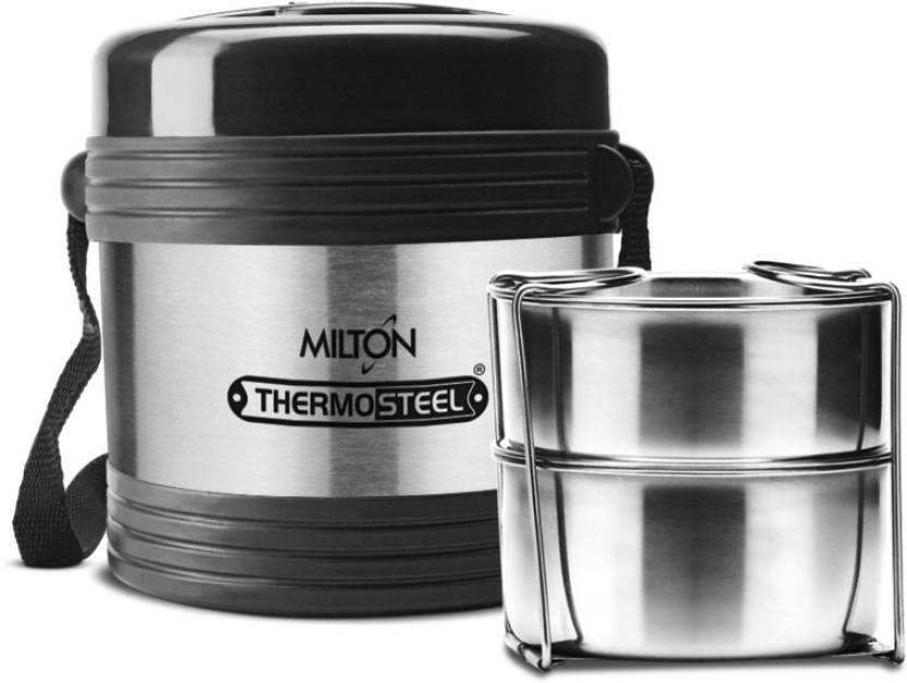 1e9b75a077ff Milton Thermosteel Legend 2 Container Tiffin Stainless Steel - Steen Plain  Lunch Box 2 Containers Lunch Box