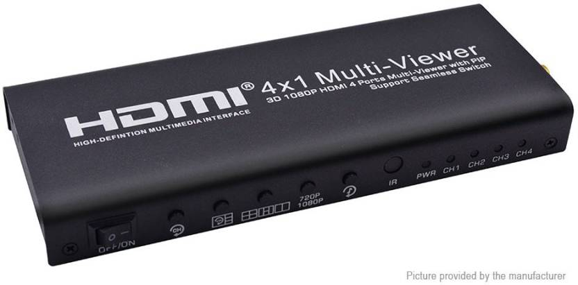 Microware HDMI 4x1 Screen Splitter Quad Multi-Viewer HDMI