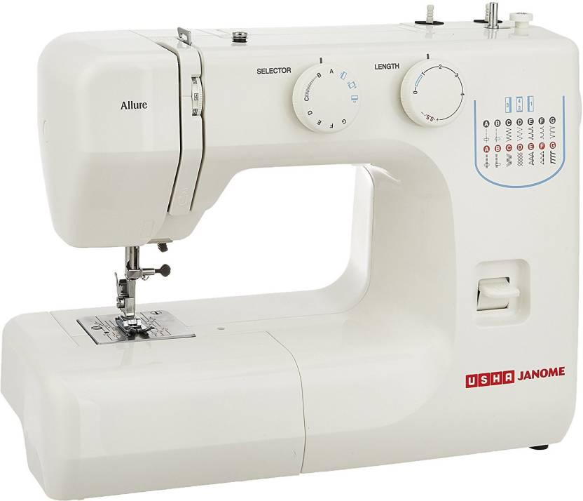 Usha Janome Allure Automatic ZigZag Electric Sewing Machine Price Inspiration Usha Janome Sewing Machine Price List