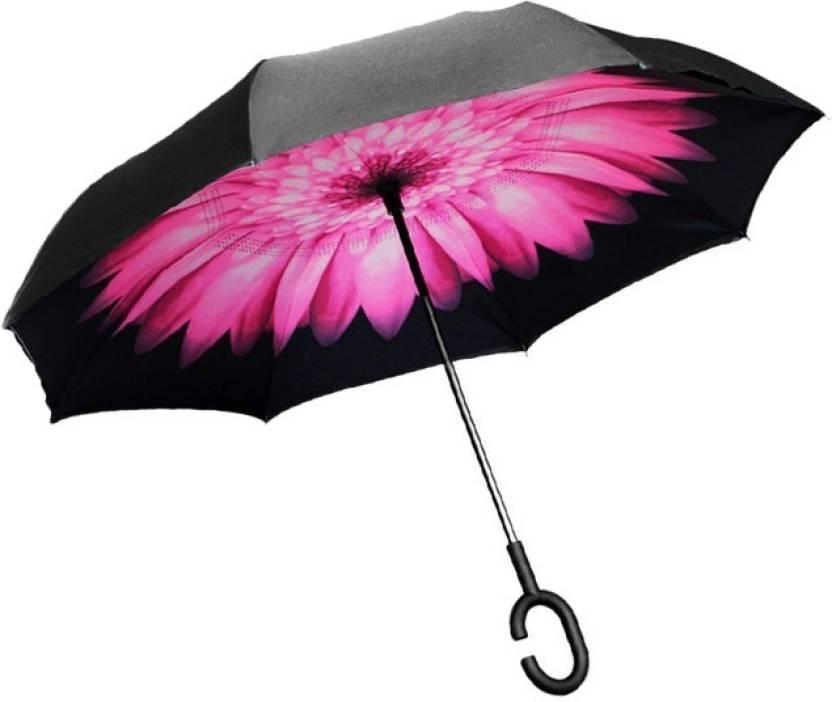 46bf44d62d1c0 Perfect Pricee Double Layer Inverted Reversible No Drip Rain Umbrella with  C shape Handle for Car Umbrella (Multicolor)