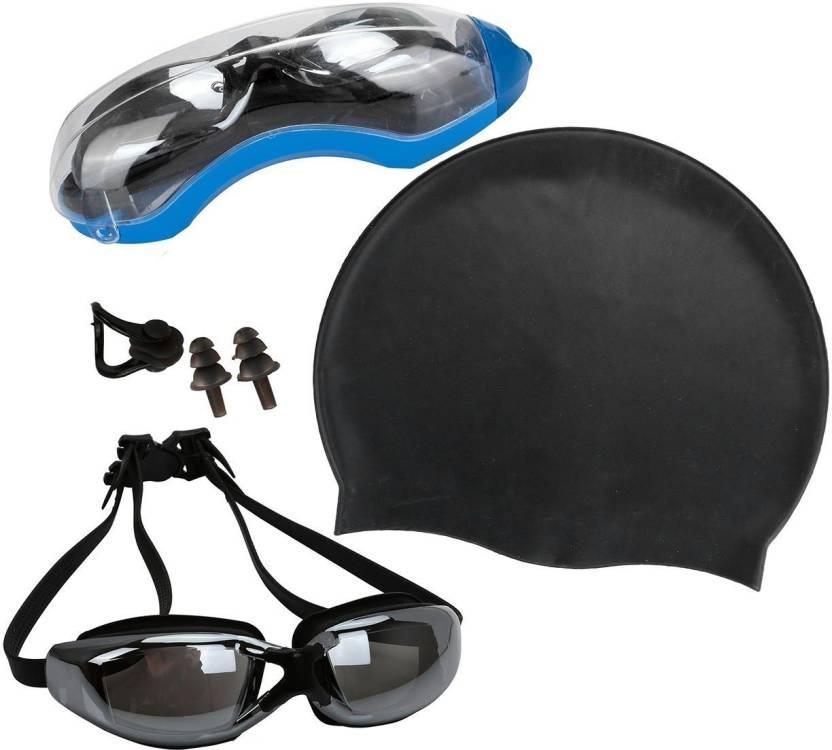 5d88058320b QUINERGYS ™ Carbon - Swim Cap + Swimming Goggles + Earplugs + Nose Clip