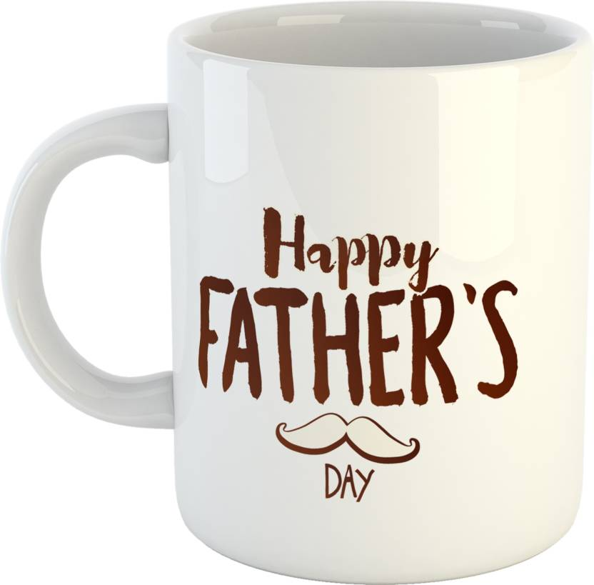 GiftOwl My Father Is Best Dad Coffee Gift For Happy Fathers Day White