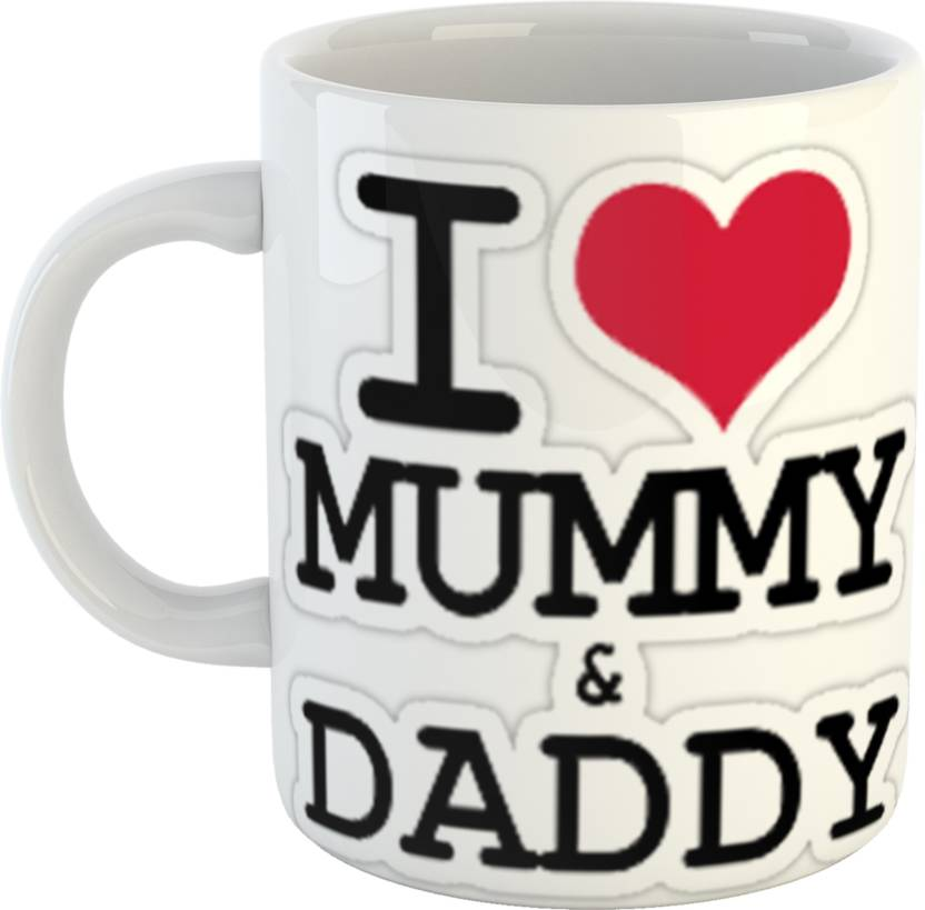 GiftOwl I Love Mummy Dady Coffee Gift For Dad Father Happy Fathers Day White 330