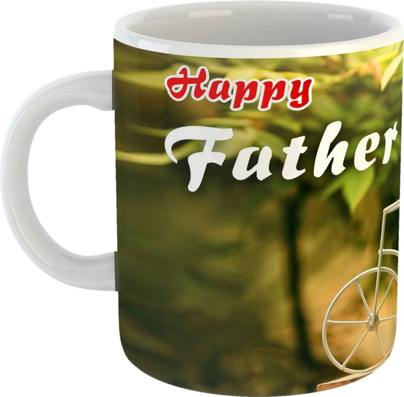 GiftOwl Happy Fathers Day Gift From Son White Coffee 330 Ml