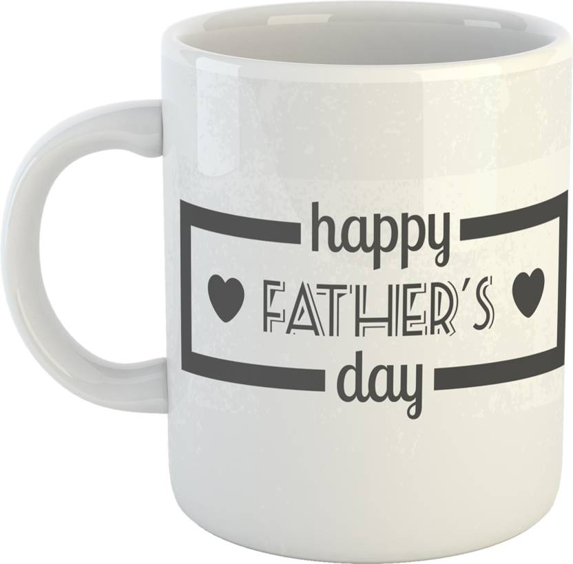 GiftOwl Best Dad Tag Coffee Gift For Father Happy Fathers Day White 330 Ml