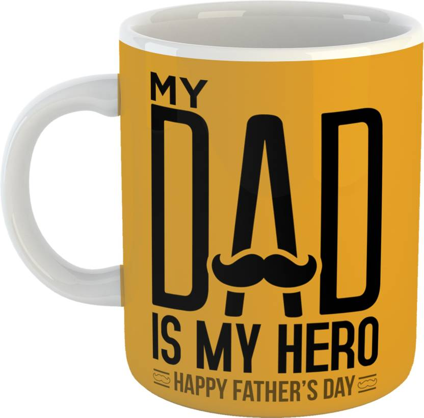 GiftOwl My Dad Is Hero Coffee Gift For Father Happy Fathers Day White