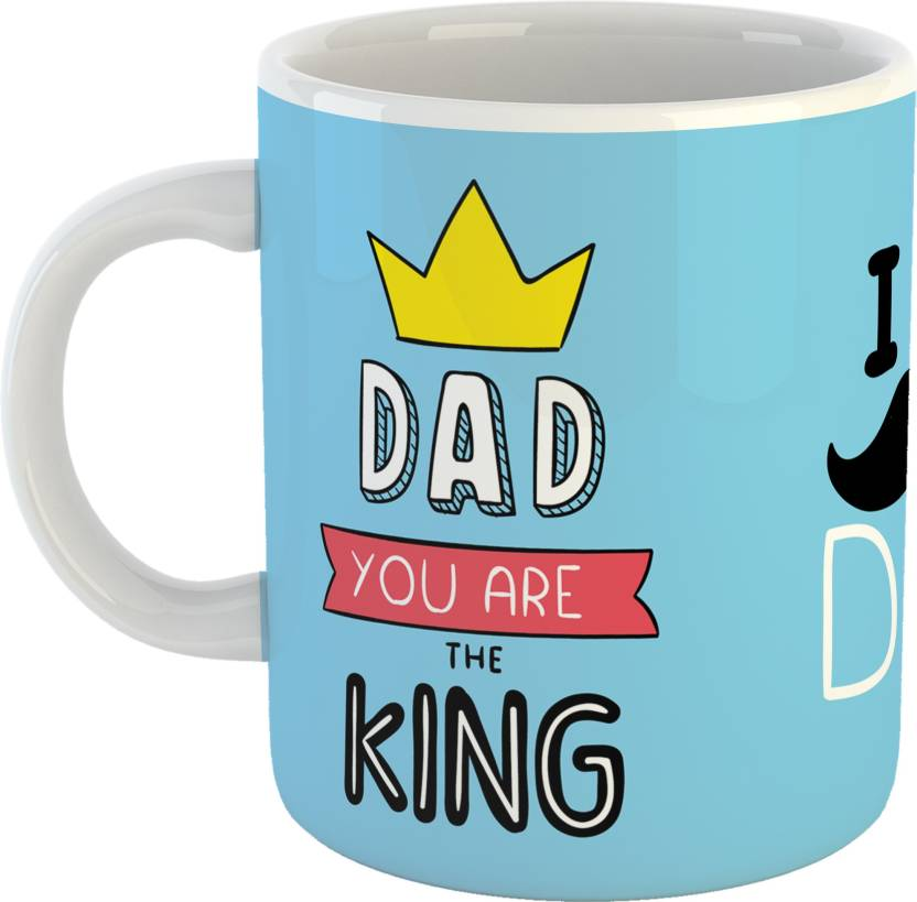 GiftOwl Dad You Are The King Coffee Gift For Father Happy Fathers Day White