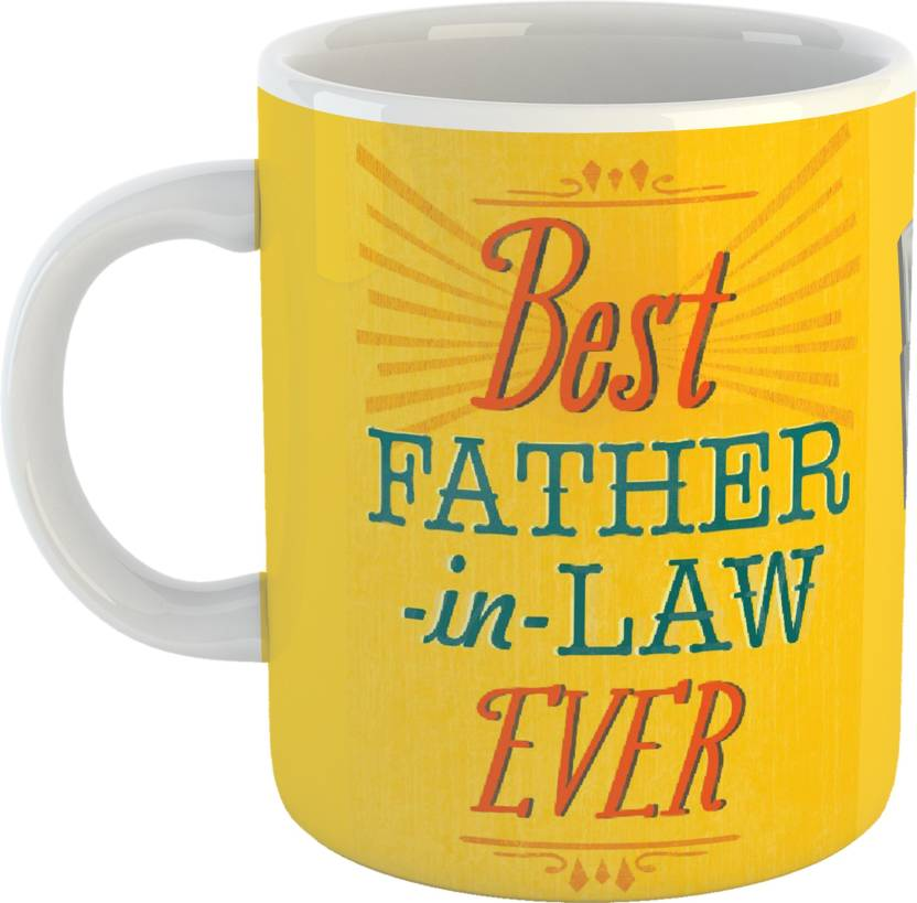 GiftOwl Best Father In Law Ever Coffee Gift For Dad Happy Fathers Day White