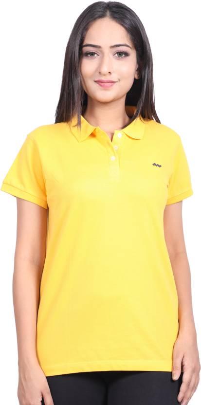 c347de1f FBB - Spunk Solid Women Polo Neck Yellow T-Shirt - Buy FBB - Spunk Solid Women  Polo Neck Yellow T-Shirt Online at Best Prices in India | Flipkart.com