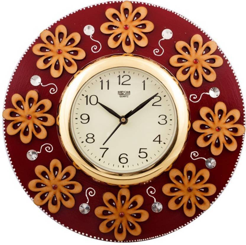 Sathvik crafts Analog 32 cm X 10 cm Wall Clock Price in