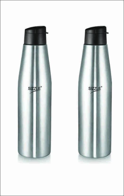 b6ac72195b2 Sizzle Leak Proof Stainless Steel Water Bottle Set of 2 1000 ml Bottle (Pack  of 2